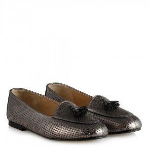 Babet Ayakkabı Platin Hakiki Deri Loafer
