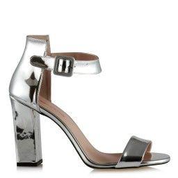 Topuklu Ayakkabı Lame Ayna Bilekli
