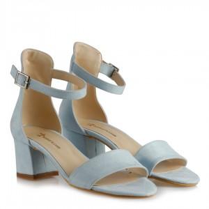 Az Topuklu Ayakkabı Bebe Mavi Süet