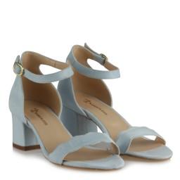 Az Topuklu Ayakkabı Bebe Mavi Süet Dalgalı