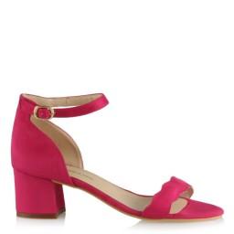 Az Topuklu Ayakkabı Fujya Süet Dalgalı