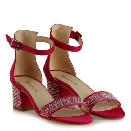 Az Topuklu Ayakkabı Fujya Süet Taşlı