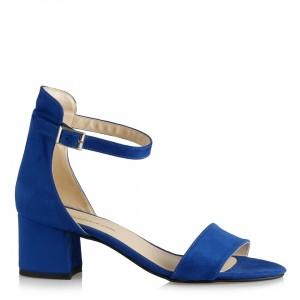 Az Topuklu Ayakkabı Saks Mavi Süet