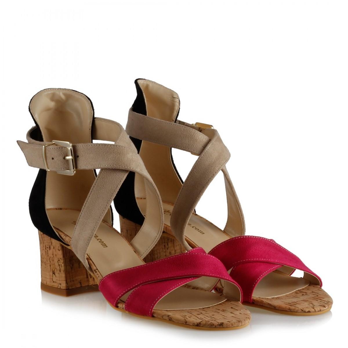 Az Topuklu Sandalet Ayakkabı Fujya Bej