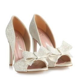 Nikah Ayakkabısı Topuklu Cam Kırığı Fiyonklu