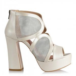 Nikah Ayakkkabısı Botie Model Kırık Beyaz
