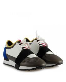 Spor Ayakkabı Bağcıklı Rahat Taban Renkli