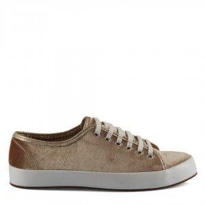 Bağcıklı Ayakkabı Vizon Kadife
