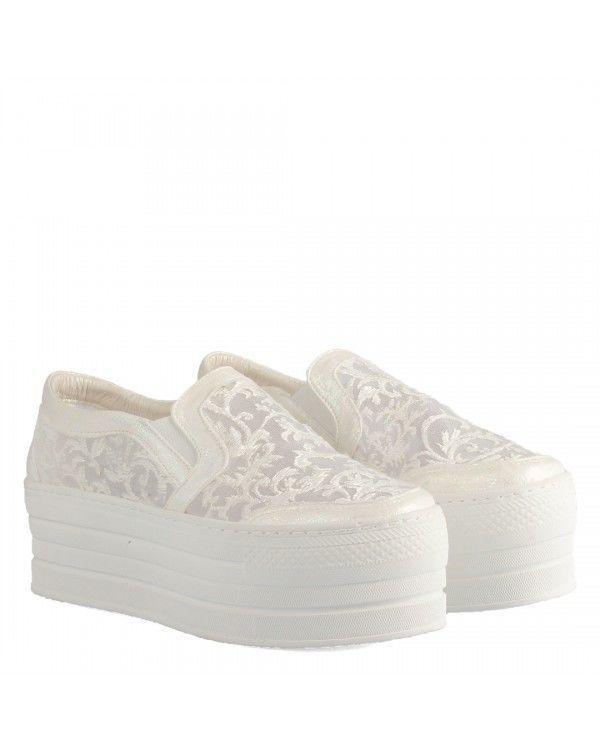 Spor Gelin Ayakkabısı Dantel Vans Model