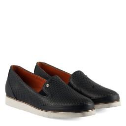 Deri Ayakkabı Lacivert Düz Model