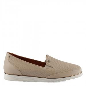 Deri Ayakkabı Rahat Model Bej