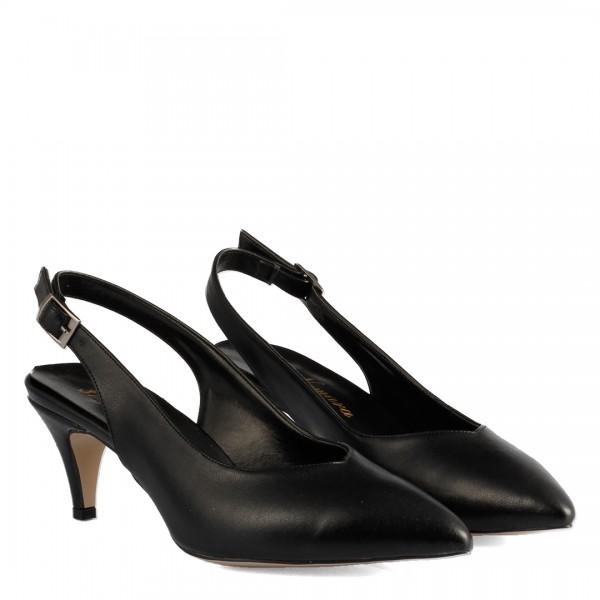 Siyah Stiletto Arkası Açık Model