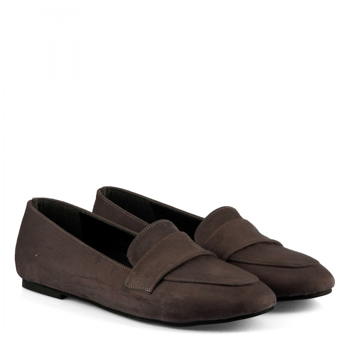 Babet Ayakkabı Gri Süet