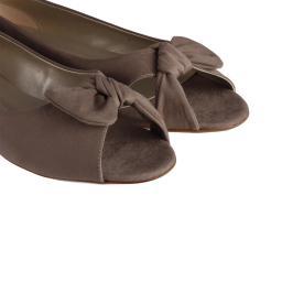 Babet Ayakkabı Burnu Açık Vizon Süet