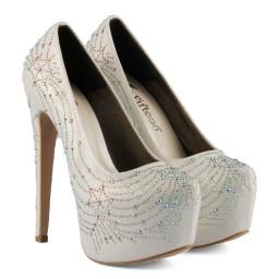 Gelin Ayakkabısı Platform Taşlı