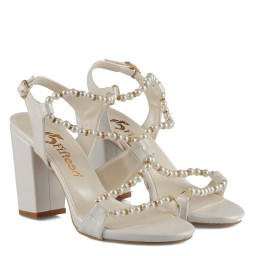 Nikah Ayakkabısı İncili Topuklu
