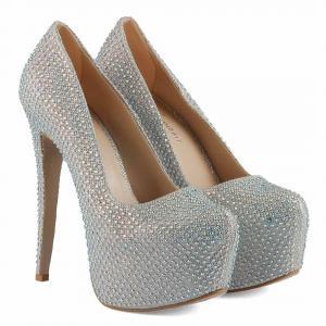 Platform Ayakkabı Lame Taşlı