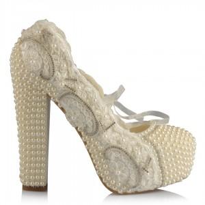 15 Cm Topuklu Gelin Ayakkabısı Tasarım