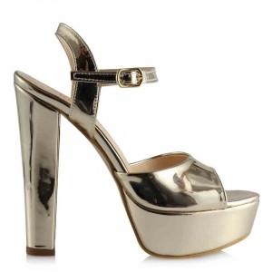 Platform Ayakkabı Dore Aynalı