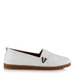 Düz Taban Ayakkabı Hakiki Deri Beyaz