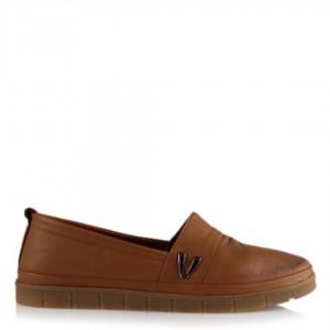 Hakiki Deri Taba Düz Taban Ayakkabı