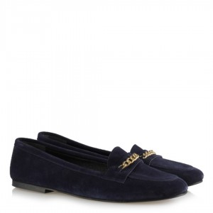 Lacivert Süet Loafer Babet Ayakkabı