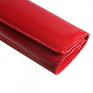 Portföy Çanta Kırmızı Rugan