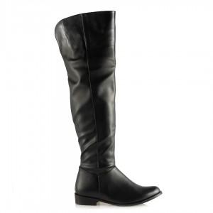 Binici Çizme Fermuarlı Siyah Renk