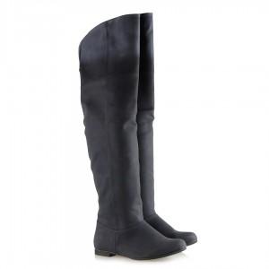 Lacivert Renk Dizüstü Binici Kadın Çizme