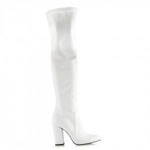 Beyaz Rugan Dizüstü Streç Çizme