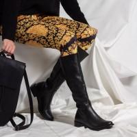 Çizme Siyah Düz Model