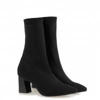 Çorap Topuklu Bot Siyah