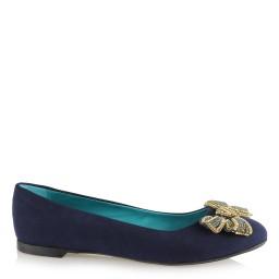 Bağcıklı Babet Ayakkabı Dore Tül Desenli