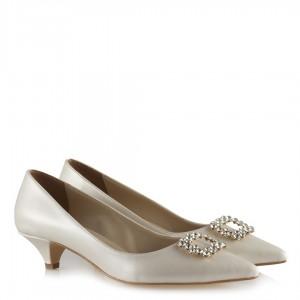 Nikah Ayakkabısı Stiletto Taşlı Tokalı