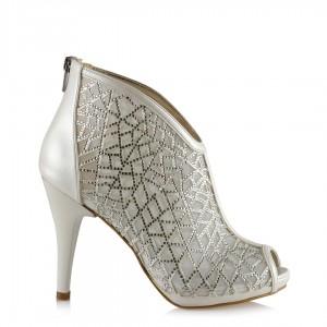 Gelin Ayakkabısı Taşlı Kafes Model