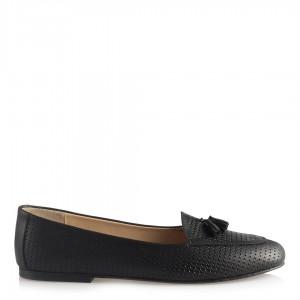Babet Ayakkabı Siyah Hakiki Deri Loafer