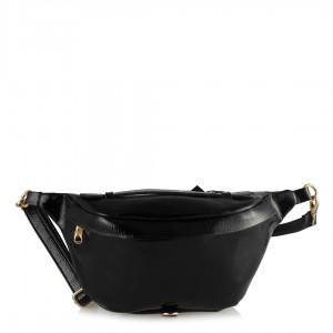 Siyah Rugan Bel Çanta