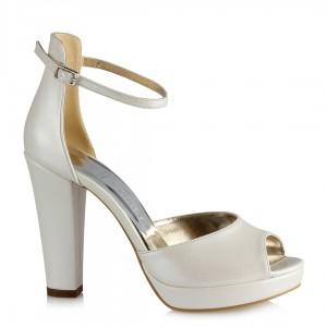 Gelin Ayakkabısı Kemerli Topuklu