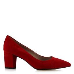 Красная Замшевая Обувь На Толстом Каблуке