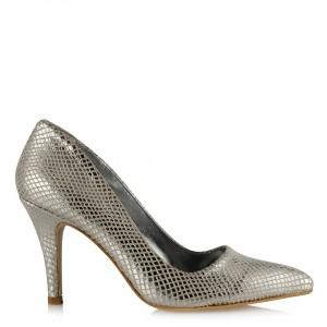 Lame Yılan Stiletto Ayakkabı
