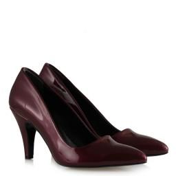 Bordo Rugan Stiletto Ayakkabı