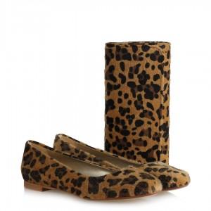 Babet Ayakkabı Portföy Çanta Takım Leopar