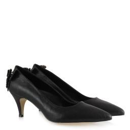 Черные Блестящие Туфли На Маленьком Каблуке С Бабочкой