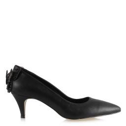 Az Topuk Stiletto Ayakkabı Siyah Yaldız Kelebek