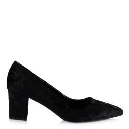 Stiletto Ayakkabı Siyah Kadife