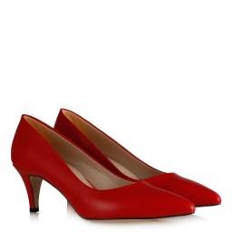 Красные Туфли На Маленьком Каблуке