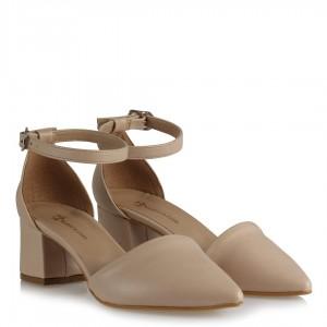 Az Topuklu Stiletto Ayakkabı Nude