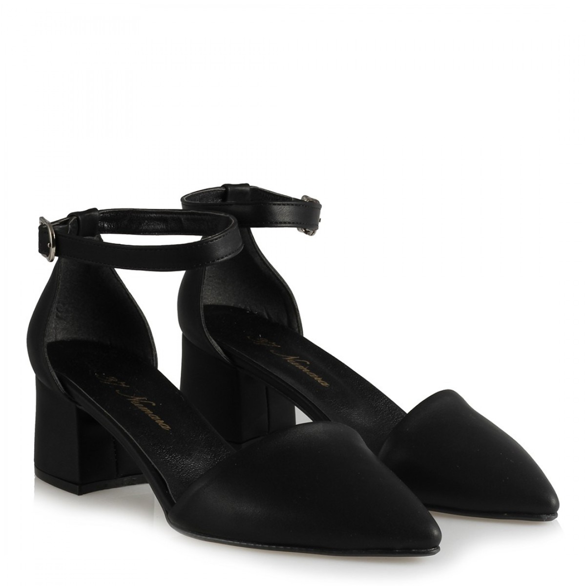 Az Topuklu Stiletto Ayakkabı Siyah