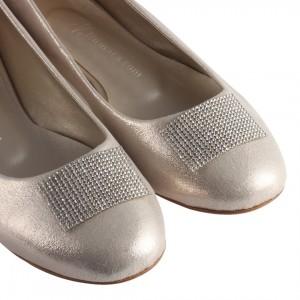 Babet Ayakkabı Altın Renk Taşlı