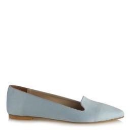 Babet Ayakkabı Bebe Mavi Süet Sivri Model